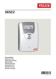 Chapitre 6 : Le programmateur (type SKSC2) - Velux