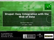 Drupal: Easy Integration with the Web of Data - SemTech 2011