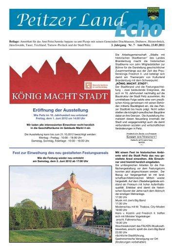 Peitzer Land Echo 07/ 2012 vom 23.05.2012 - Amt Peitz