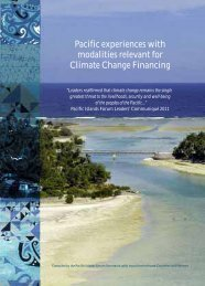 Pacific experiences with modalities relevant for Climate Change ...