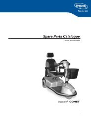 PARTS-PUBLISHER Workbench - Invacare® Comet {#SPLCOMET}