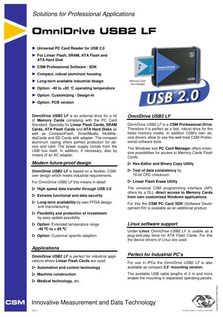OmniDrive USB2 LF pdf - Amtron Technology, Inc