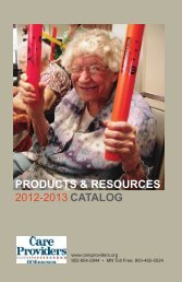products & resources 2012-2013 catalog - Care Providers of ...