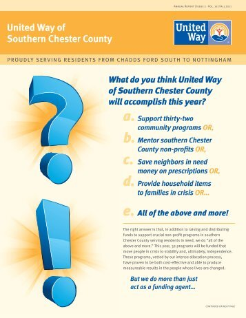 What do you think United Way of Southern Chester County will ...