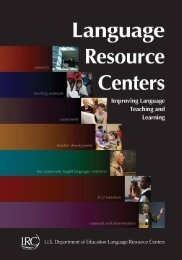 The National - Foreign Language Resource Centers - Michigan ...