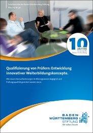 Qualifizierung von Prüfern - Baden-Württemberg Stiftung