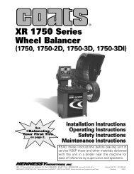 Coats XR-1750 Wheel Balancer - NY Tech Supply