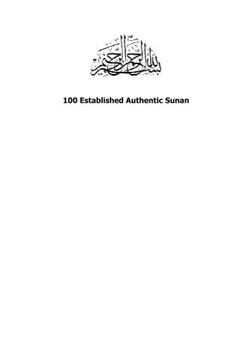 100 Established Authentic Sunan - Kalamullah.Com