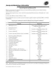 Serviço de Marketing e Informática - Biblioteca/Centro de ...