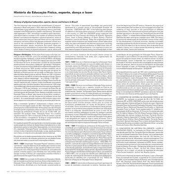História da Educação Física, esporte, dança e lazer - Atlas do ...