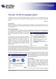 The web: 10-15% of campaign spend - Digital Strategy Consulting