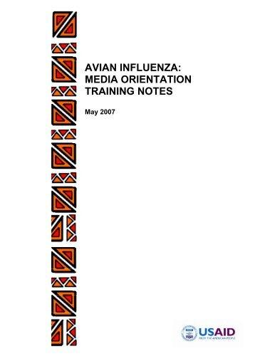 Media Orientation Training Notes. Three Day Workshop - AI.Comm