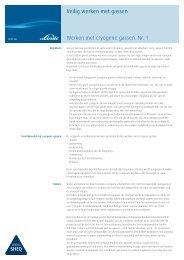 Werken met cryogene gassen - Linde Gas Benelux