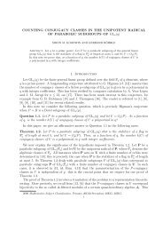 COUNTING CONJUGACY CLASSES IN THE UNIPOTENT ...