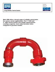 SWIVEL BROCHURE - FRONT - Weir Oil & Gas Division