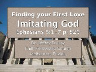 Imitating God - Faith Fellowship Church