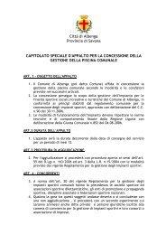 Città di Albenga Provincia di Savona ... - Comune Albenga