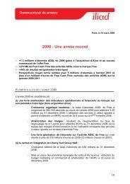 Résultats 2008 - Iliad