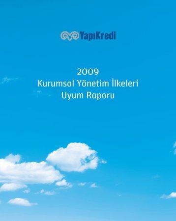 2009 Kurumsal Yönetim İlkeleri Uyum Raporu - Yapı Kredi