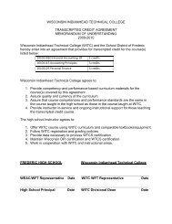 Memorandum of Understanding - Wisconsin Indianhead Technical ...