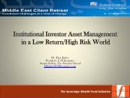 Institutional Investor Asset Management in a Low Return/High Risk ...