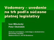 Vodomery – uvedenie na trh podľa súčasne platnej legislatívy