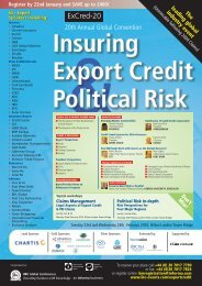 Annual Global Convention Insuring Export Credit & Political Risk