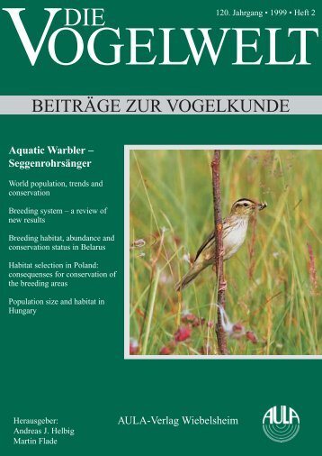 Habitat selection of Aquatic Warbler Acrocephalus paludicola in ...