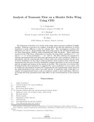 Analysis of Transonic Flow on a Slender Delta Wing ... - CFD4Aircraft
