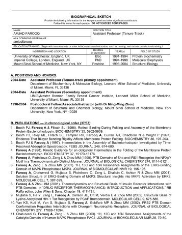 Biographical Sketch Format Page - Labs.med.miami.edu