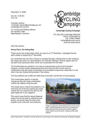 29th March 1998 - Cambridge Cycling Campaign