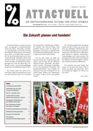 Die Zukunft planen und handeln! - ATTAC - Suisse