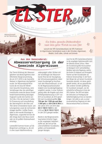 Elster News Ausgabe 17 - SPD-Gemeindeverband Algermissen