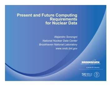 NNDC - National Energy Research Scientific Computing Center