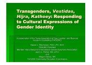 Transgenders, Vestidas, Hijra, Kathoey - Counselingoutfitters.com