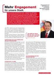 Mehr Engagement - Bezirksorganisation St. Pölten - SPÖ