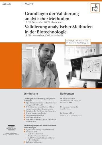 Grundlagen der Validierung analytischer ... - GMP-Navigator