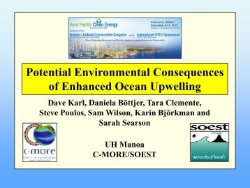D. Karl _Enhanced Upwelling Consequences