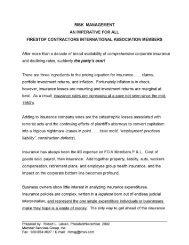 Risk Management - FCIA - Firestop Contractors International ...