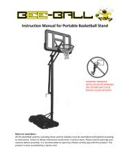 Instruction Manual for Portable Basketball Stand