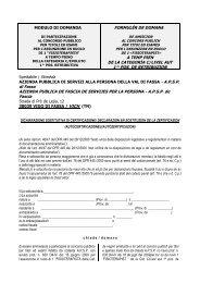 MODULO DI DOMANDA - Agenzia del Lavoro