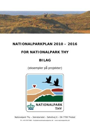 nationalparkplan 2010 – 2016 for nationalpark thy bilag