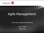 Agile Management - NET Usergroup Zentralschweiz