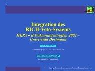 Integration des RICH-Veto-Systems