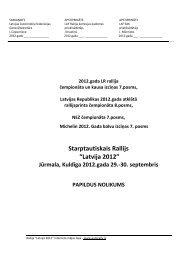 Latvija 2012 - Latvijas Automobiļu Federācija