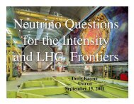 Neutrino Questions for the Intensity and LHC Frontiers.