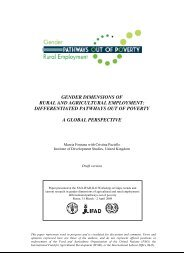 gender dimensions of rural and agricultural employment - Food ...