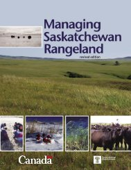 4006 Managing SK Rangeland2.indd - Saskatchewan Forage Council