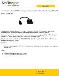Adaptateur convertisseur HDMI® vers VGA pour ... - Ais-info.fr