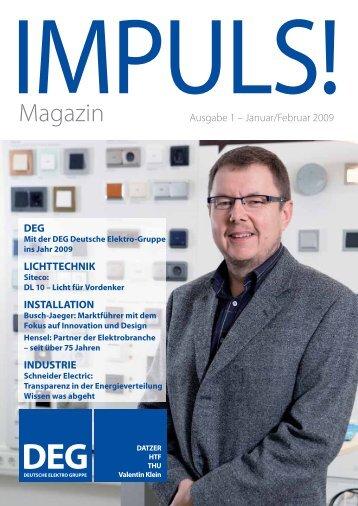 IMPULS! Ausgabe 1 - Deutsche Elektro Gruppe